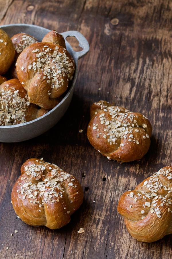 Nudos de pan con Cereales