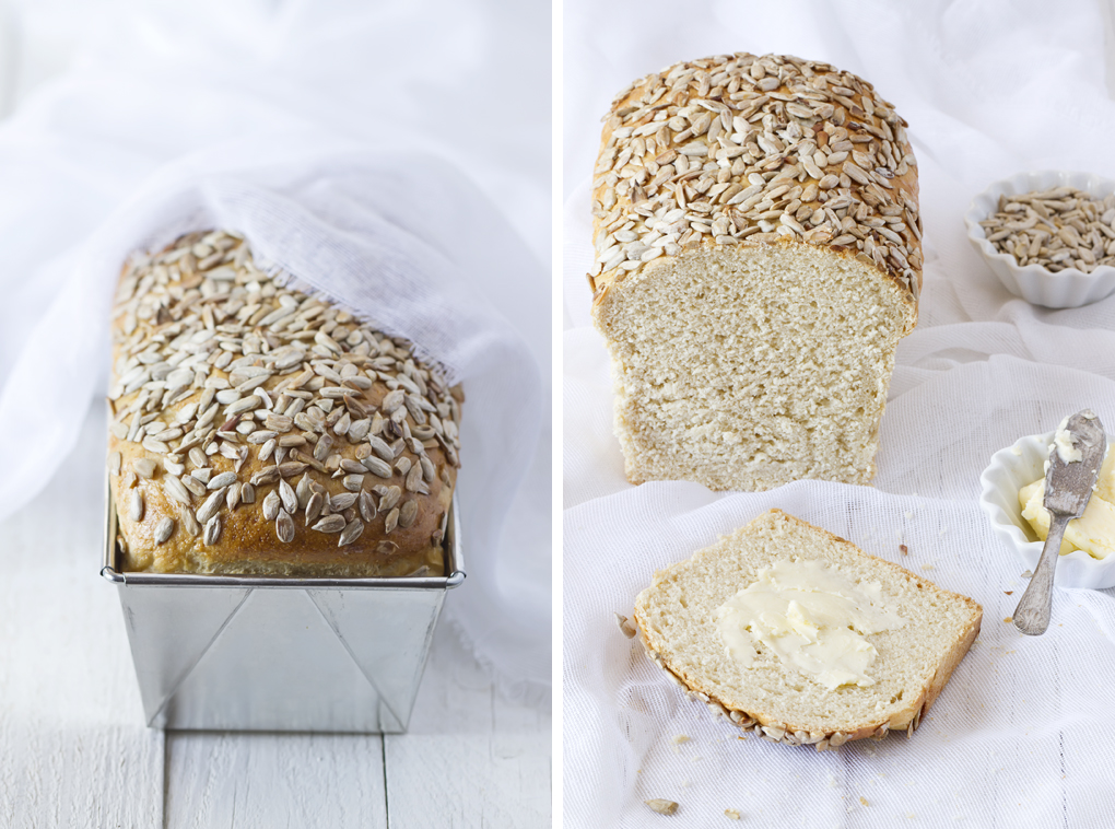 Pan de molde con semillas