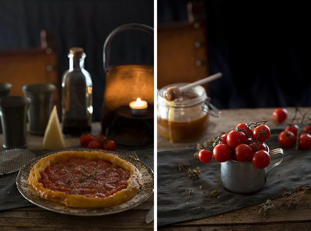 Tarta tatín de tomates