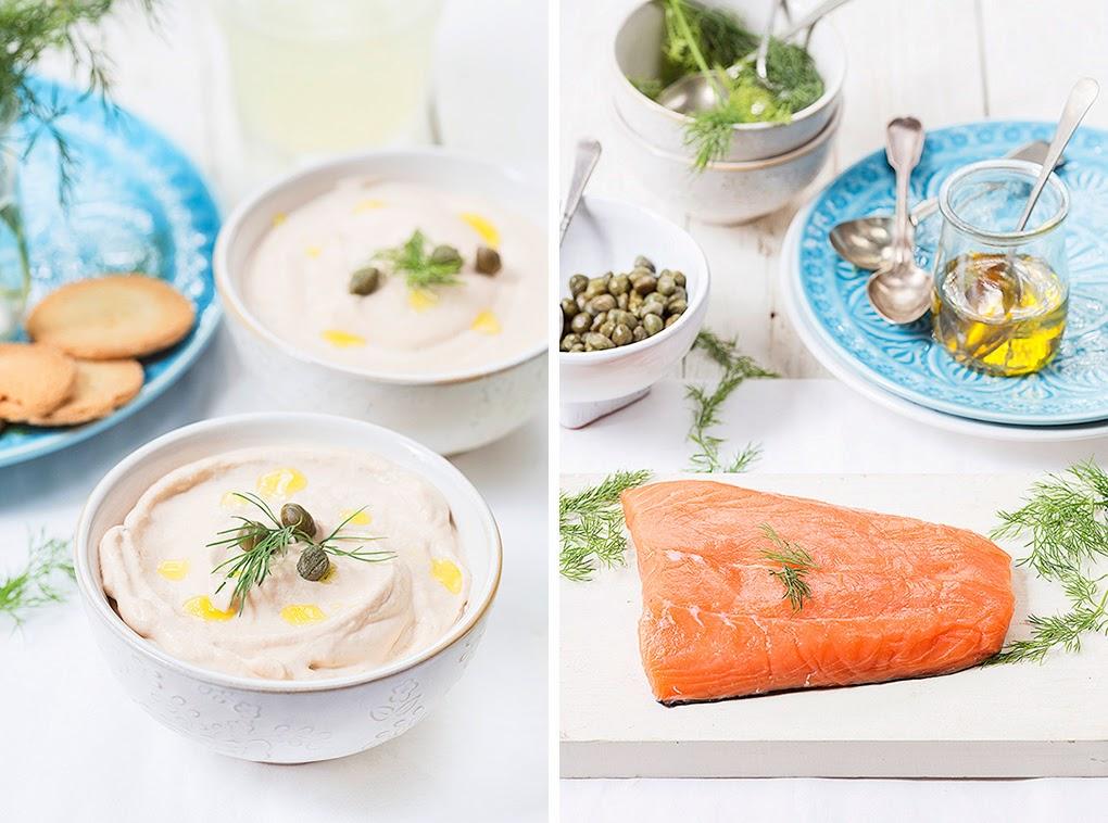 Dip de salmón noruego