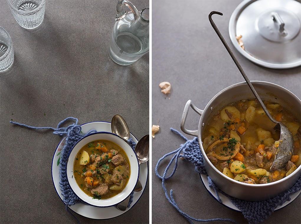 Potaje tradicional de ternera y patatas