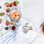 Tarta invertida de fresas