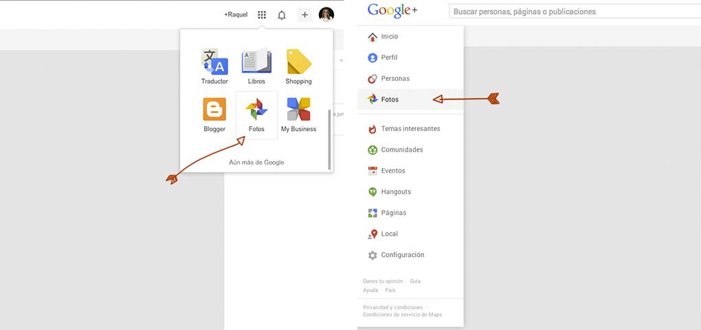 fotos_configuración_google