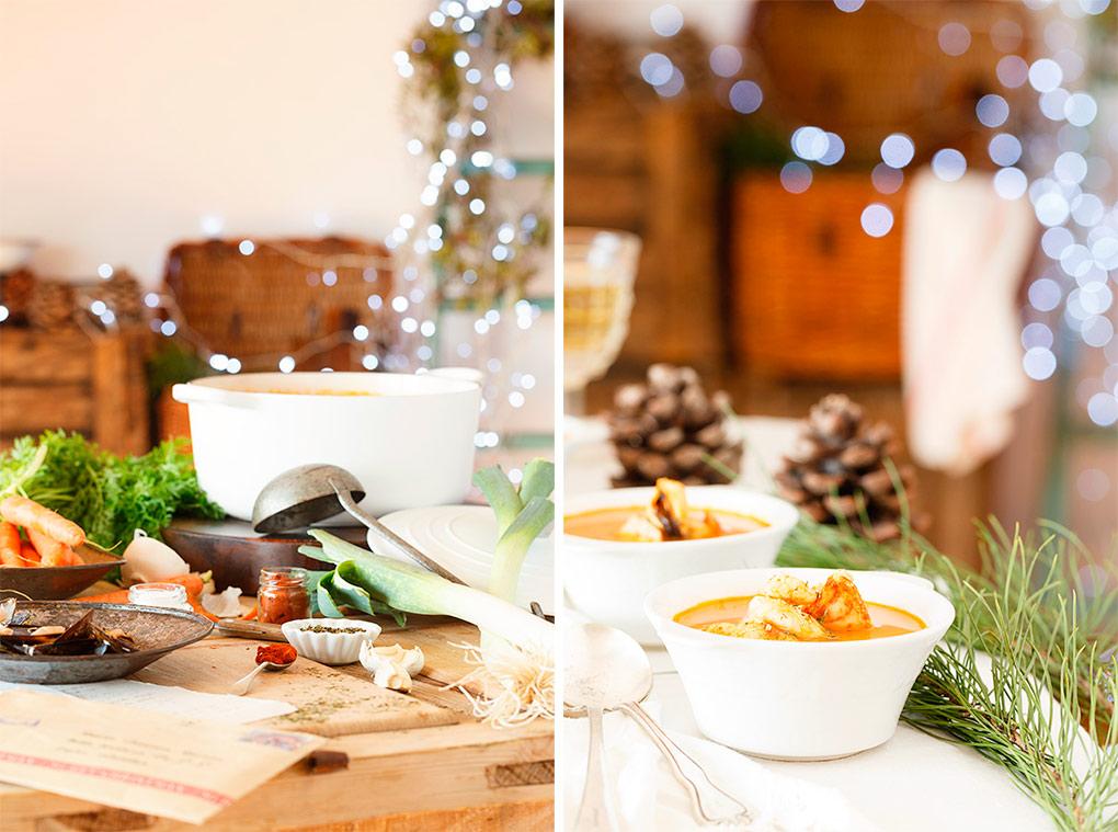 Sopa de Marisco para Navidad