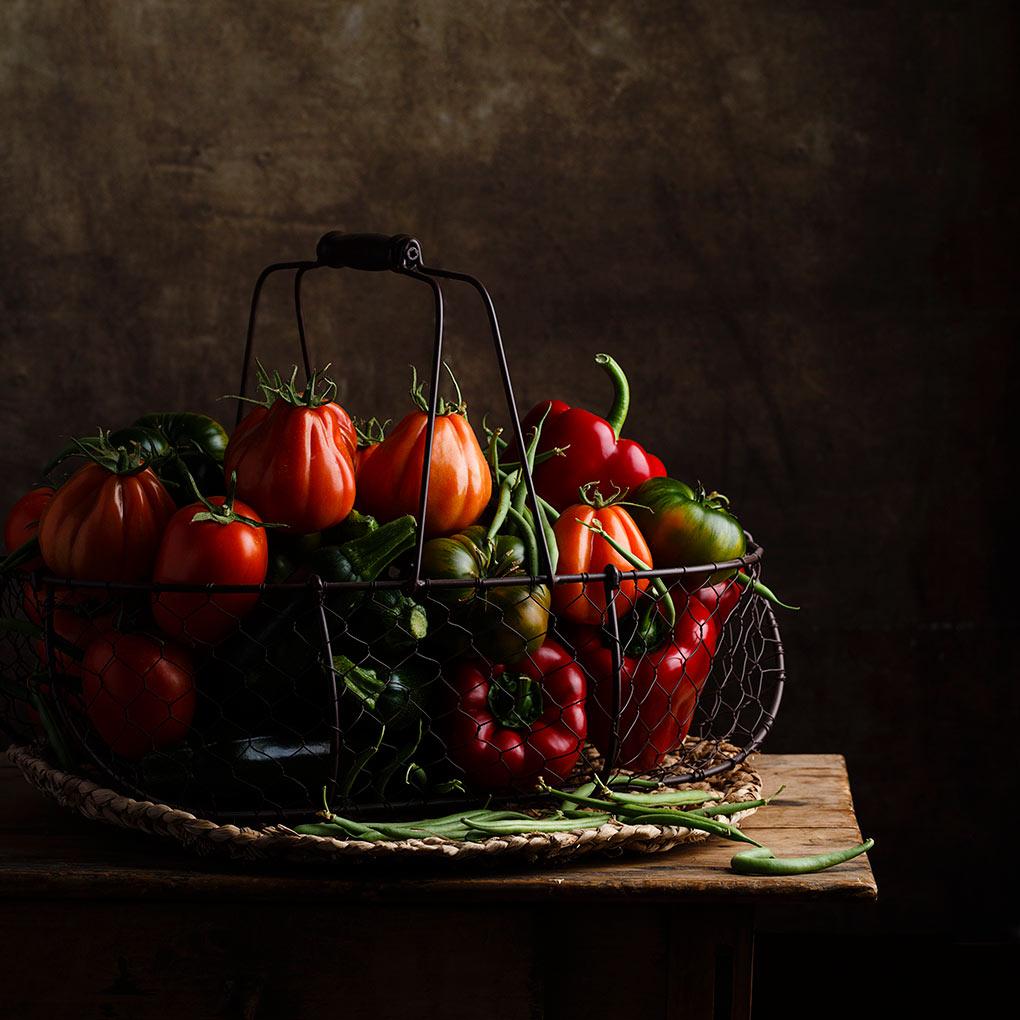 Fritata de tomate y fotografía