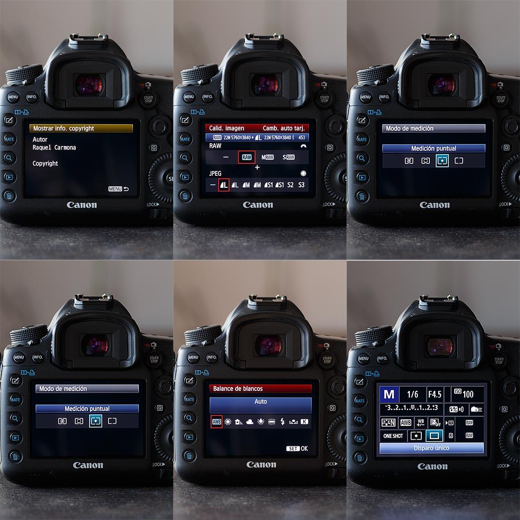 Configura tu cámara reflex