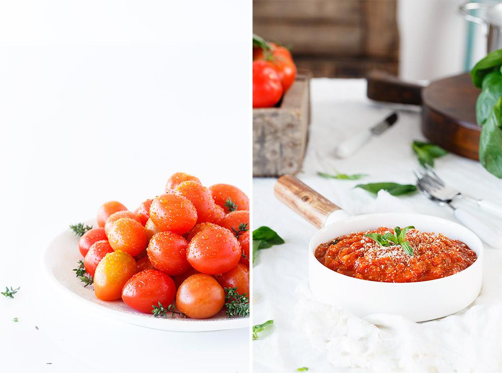Ingredientes del tomate frito casero