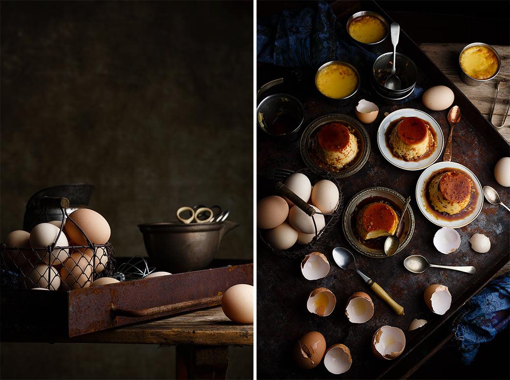 Flan de huevo casero al horno