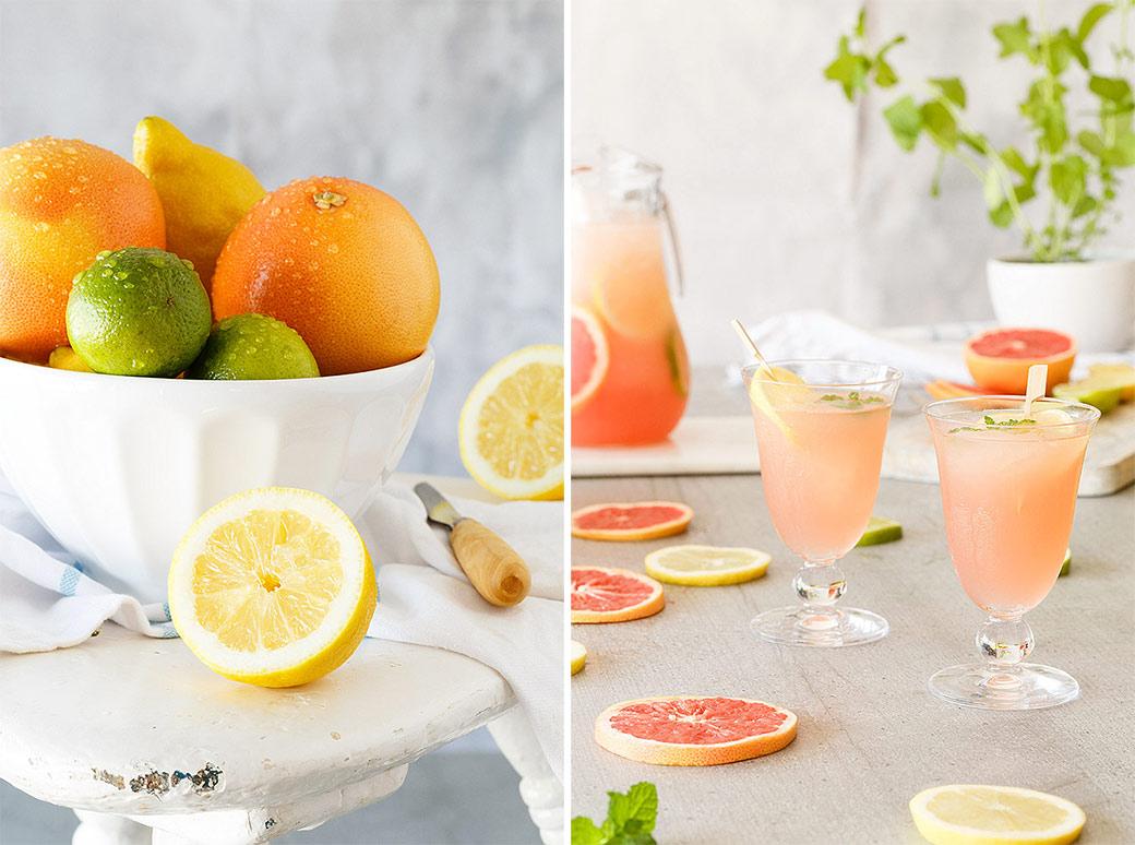 Granizado de lima y limón