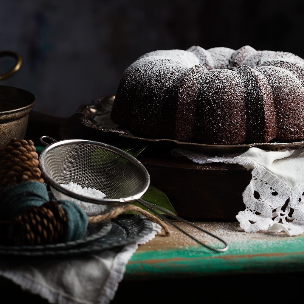 Sobremesa:Frangelico con lima y Bundt Cake de chocolate