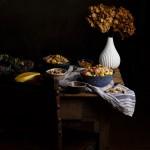 Ensalada de pollo y salsa de soja