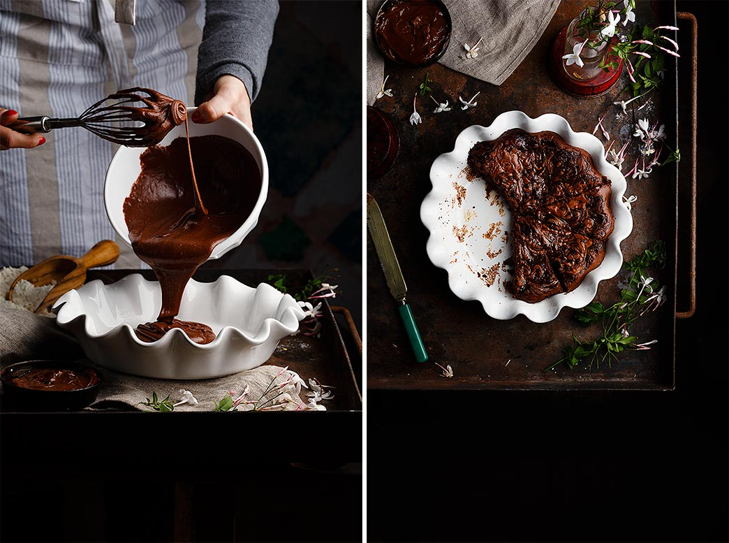 Receta brownie de nutella