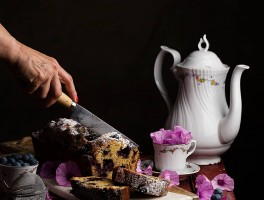 plum cake arandanos
