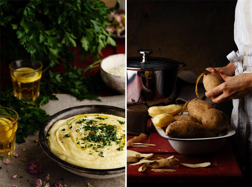 receta de puré de patatas
