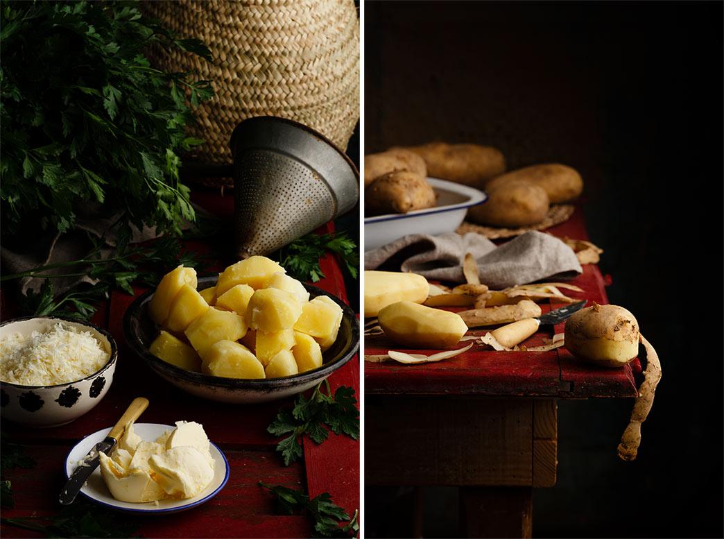 puré de patatas con queso