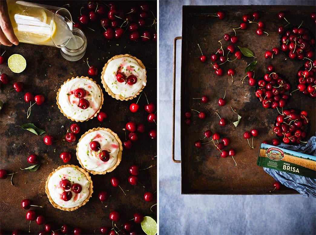 tartaletas dulces de cerezas