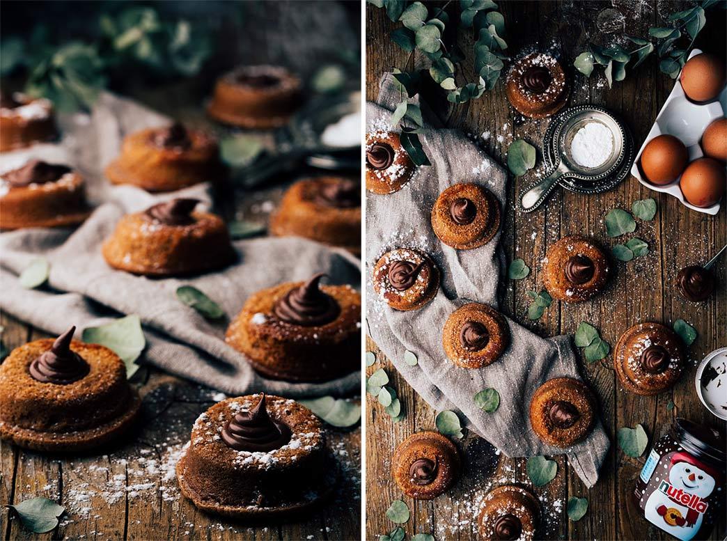 Bizcochos caseros con nutella