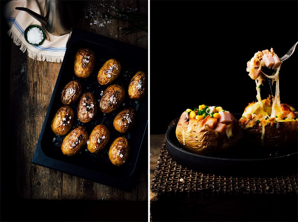 Receta de patatas asadas al horno rellenas