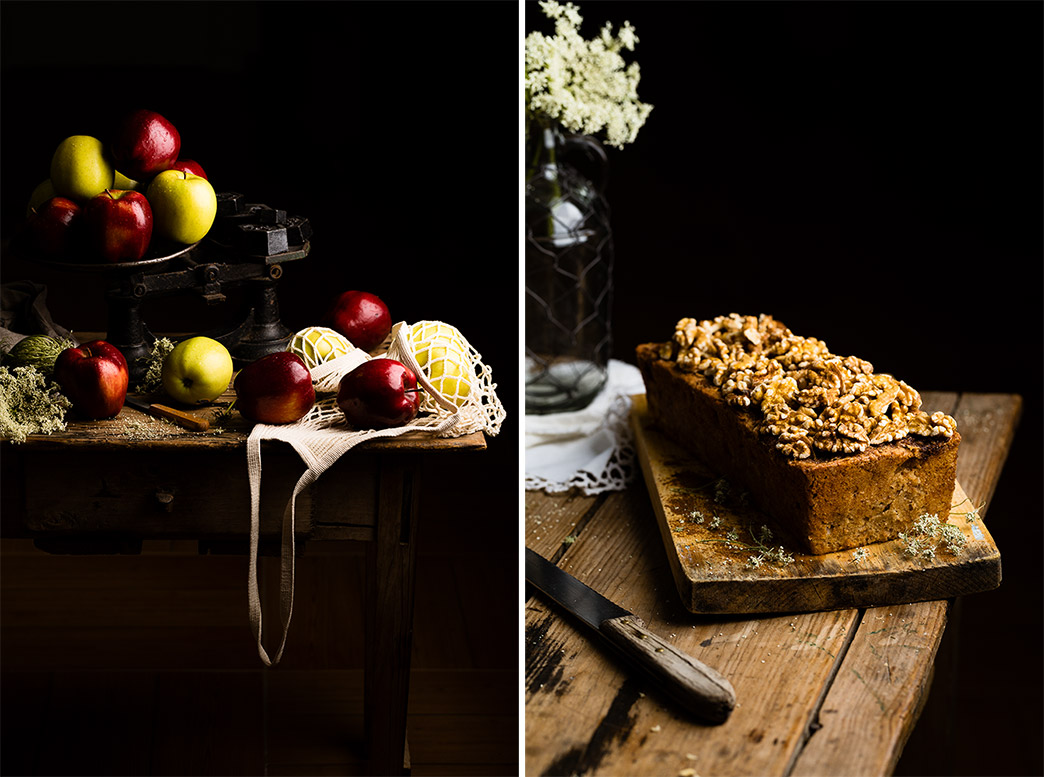Pan dulce de manzana canela y nueces
