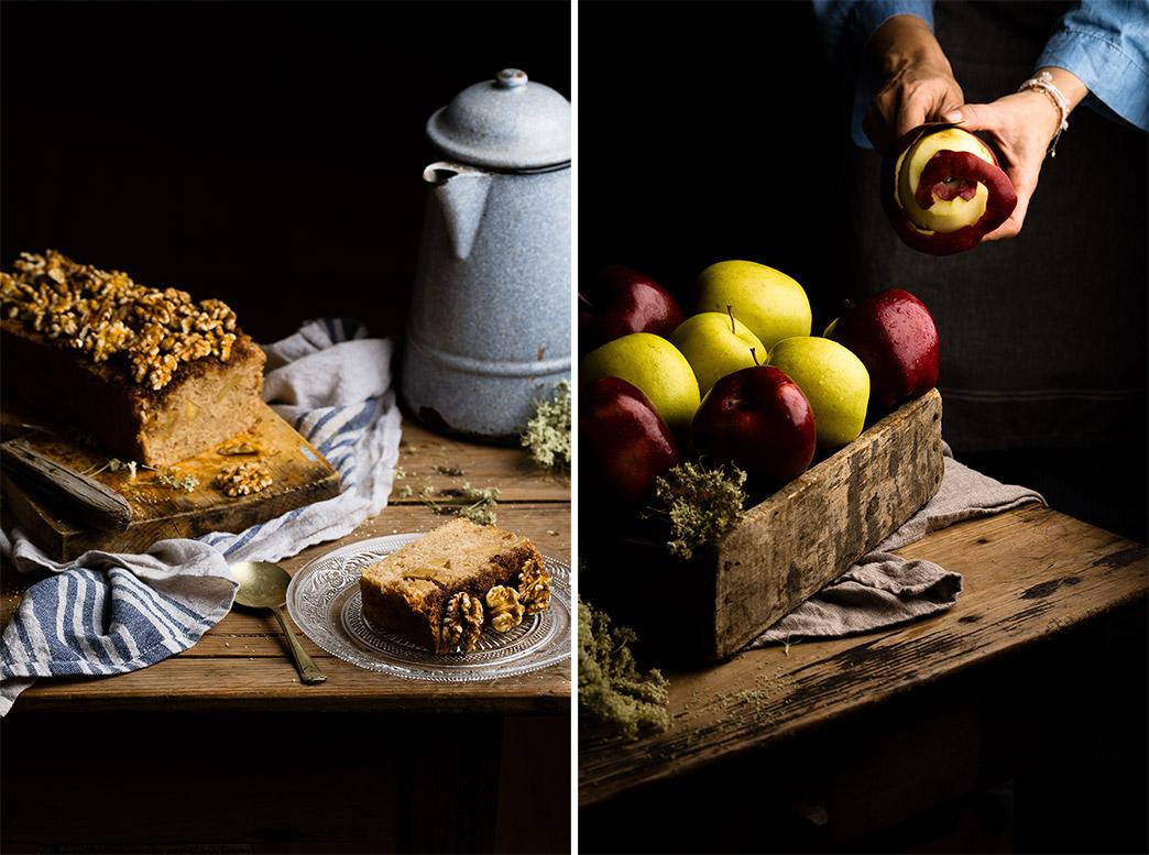Ingredientes para el pan de manzana