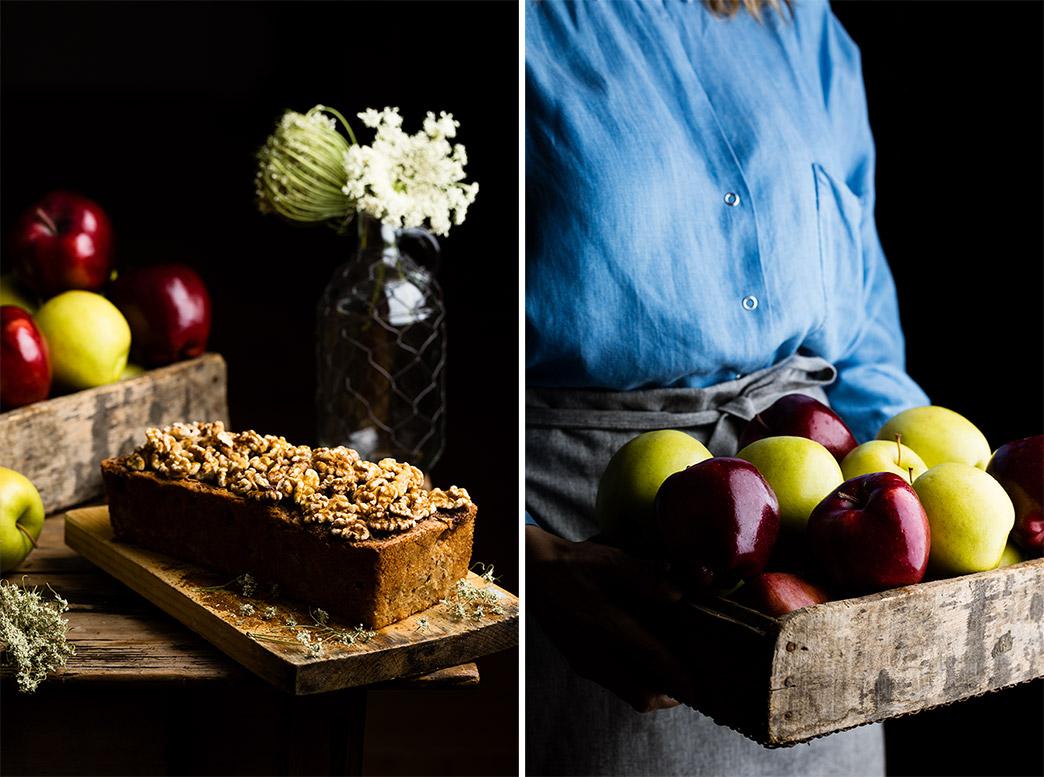 Manzanas para hacer el pan de manzana