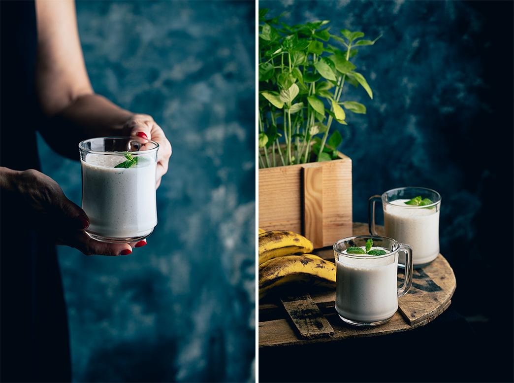 Batido de plátano y yogur
