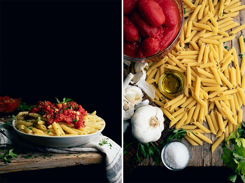 receta de pasta con tomate