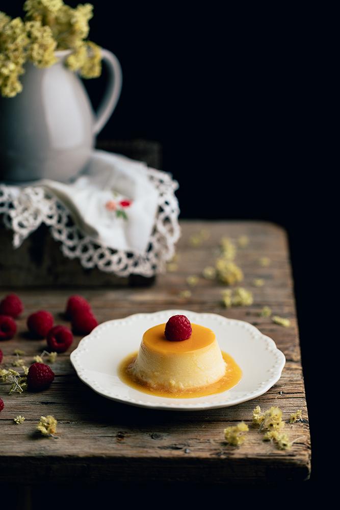 Ingredientes para el flan de queso mascarpone