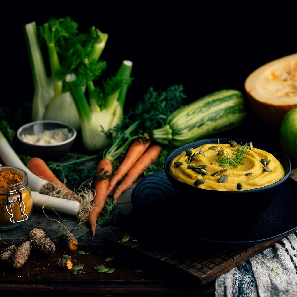 Crema de verduras asadas al horno
