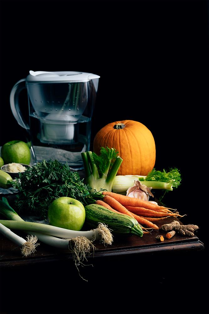Ingredientes para la crema de verduras asadas