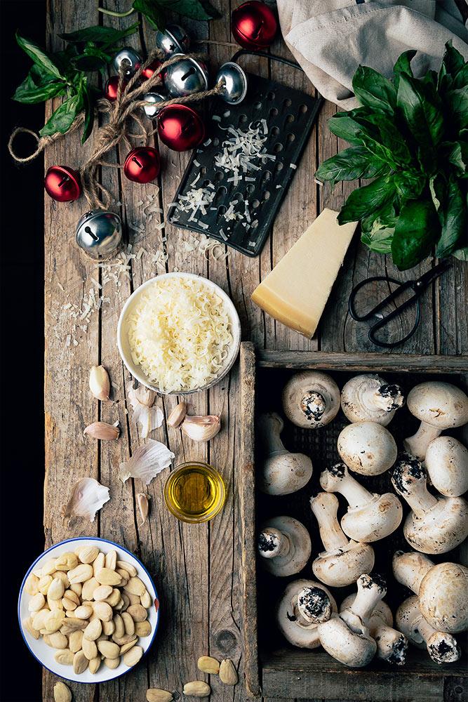 Receta para hacer champiñones rellenos al horno