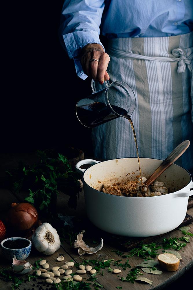 Ingredientes para la receta de pollo en salsa de almendras