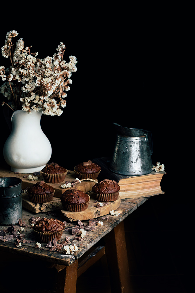 Magdalenas de chocolate