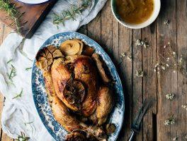 como hacer pollo asado en crock pot