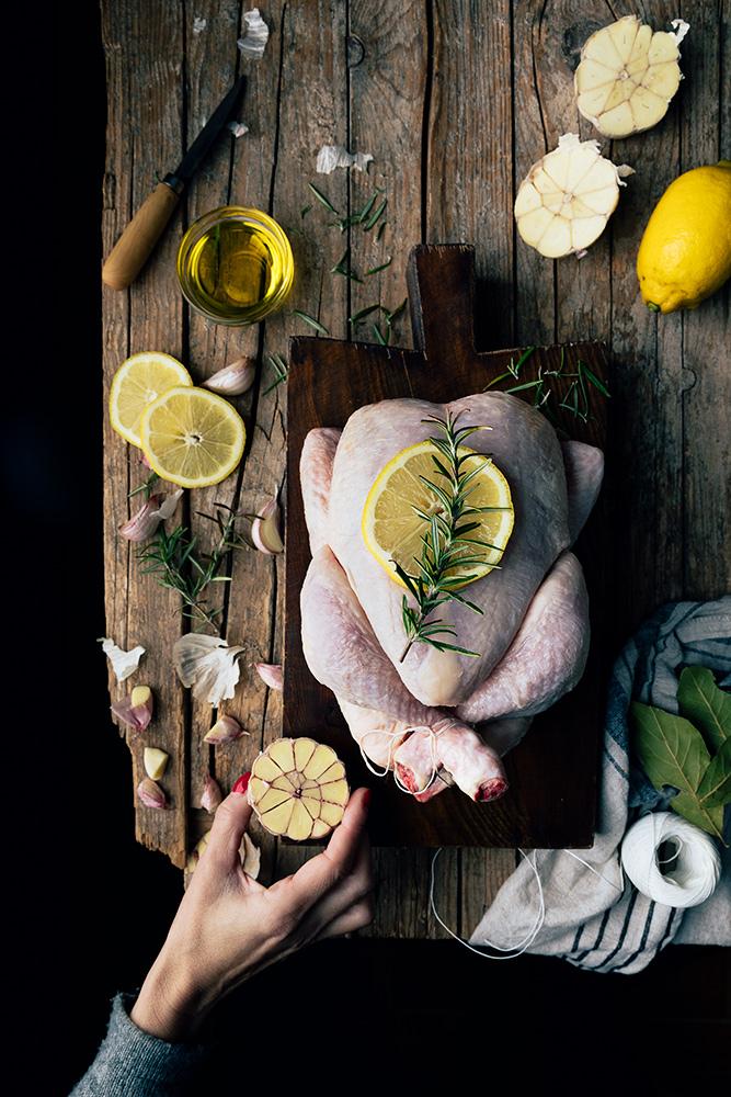 pollo asado en olla de cocción lenta o crock pot