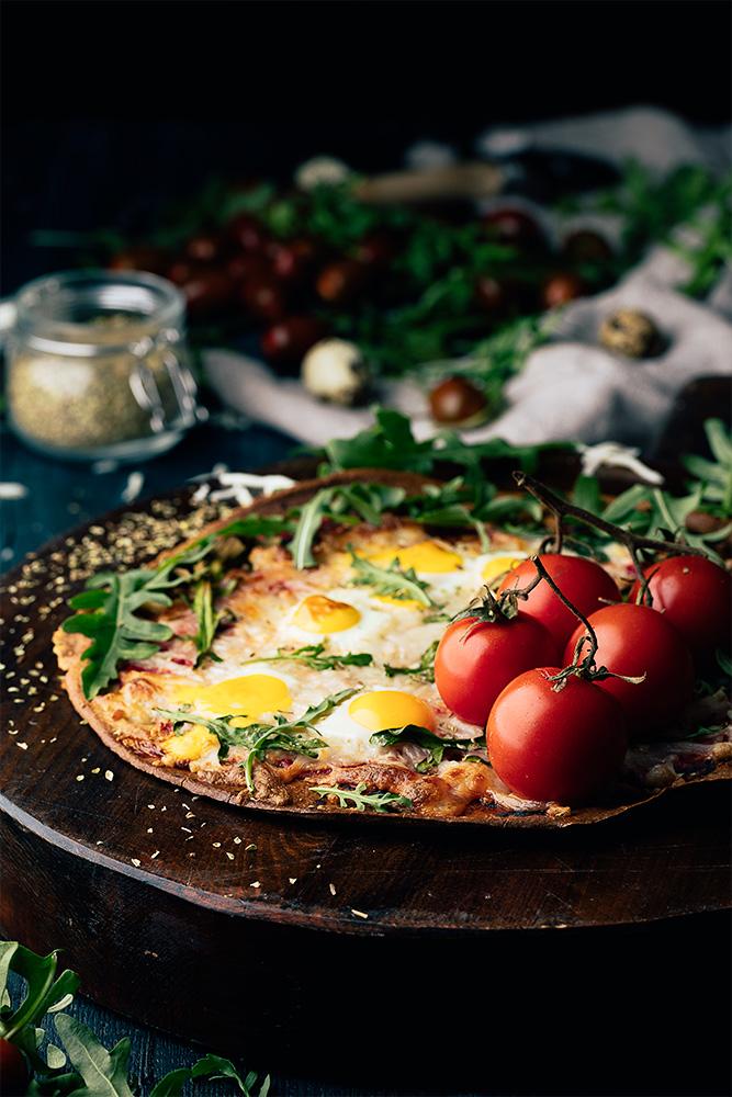 Ingredientes para dos pizzas de quinoa