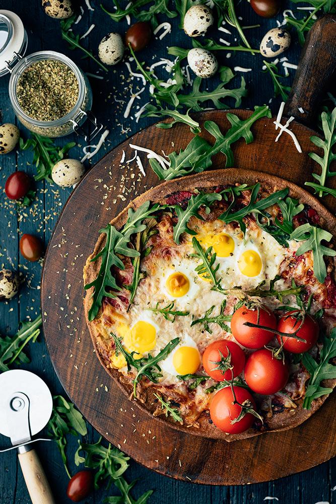 receta de pizza de quinoa