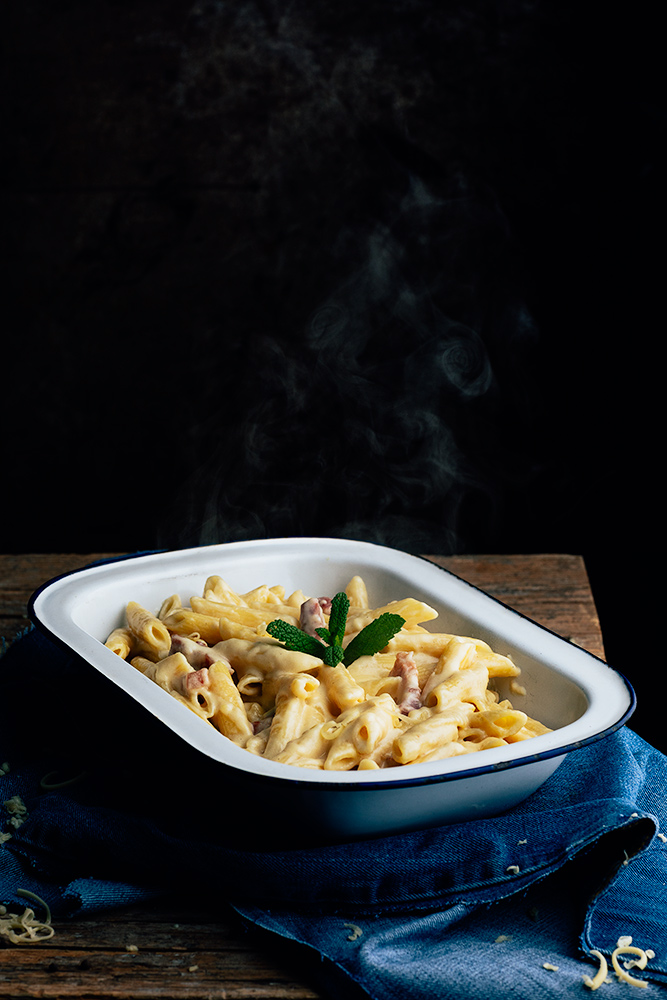 Ingredientes para los macarrones con queso