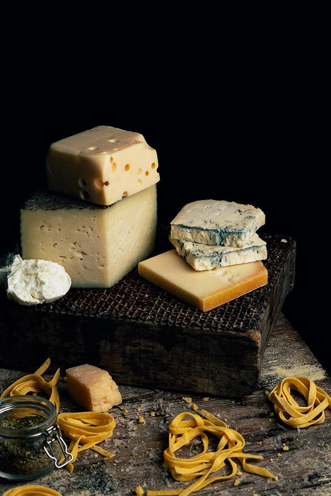 pasta fresca con salsa cuatro quesos