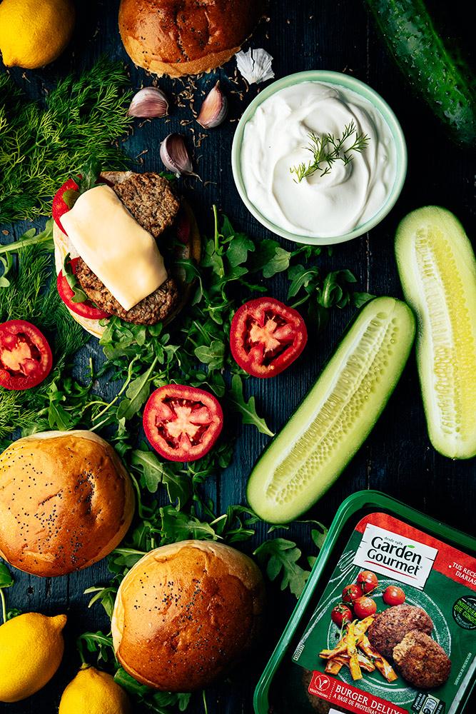 salsa de yogur para hamburguesa garden gourmet